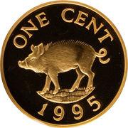 1 cent - Elizabeth II (Essai or) – revers