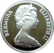 25 cents - Elizabeth II (Anniversaire des Bermudes) – avers
