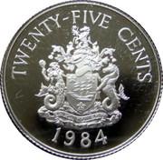 25 cents - Elizabeth II (Anniversaire des Bermudes) – revers