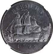 1 penny George III – revers