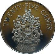 25 cents - Elizabeth II (Hamilton) – revers