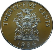 25 cents - Elizabeth II (2nd portrait) Anniversary of Bermuda) - Warwick -  revers