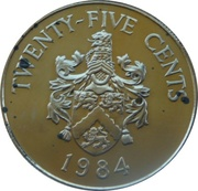 25 cents - Elizabeth II (2nd portrait) Anniversary of Bermuda) - Smith's parish – revers