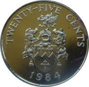 25 cents - Elizabeth II (2nd portrait) Anniversary of Bermuda) - Sandy's Parish – revers