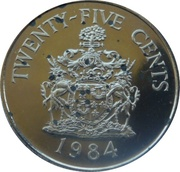 25 cents - Elizabeth II (2nd portrait) Anniversary of Bermuda) - Hamilton Parish – revers