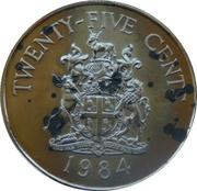 25 cents - Elizabeth II (2nd portrait) Anniversary of Bermuda) - Southampton Parish – revers