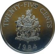 25 cents - Elizabeth II (2nd portrait) Anniversary of Bermuda) - Pembroke Parish -  revers