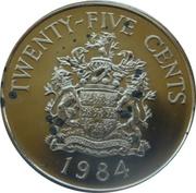 25 cents - Elizabeth II (2nd portrait) Anniversary of Bermuda) - Paget Parish -  revers