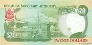 20 Dollars (Elizabeth II) -  revers