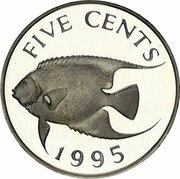 5 cents - Elizabeth II (Argent) – revers