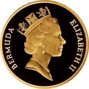 5 cents - Elizabeth II (Or) – avers