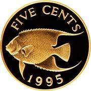 5 cents - Elizabeth II (Or) – revers