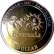 1 Dollar - Elizabeth II (Jeux olmypiques 1992) – revers