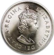 1 crown - Elizabeth II (1er portrait -350e anniversaire - Colony Fondation) – avers