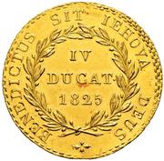 4 ducat – revers