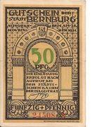 50 Pfennig (Bernburg) – avers