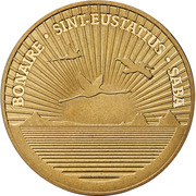 1 dollar Introduction du dollar (laiton) -  avers