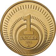 1 dollar Introduction du dollar (laiton) -  revers