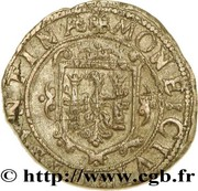 Carolus (type 5 : à l'écu orné) - Philippe IV – revers