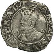 Demi-carolus ou petit blanc (2ème type, à l'écu bisontin) - Charles Quint puis Philippe II – avers