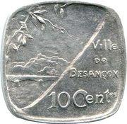 10 Centimes Ville de Besançon [25] – revers