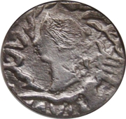 1 Rupee - Reine Victoria (Bharatpur) – avers