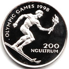 200 ngultrums - Jigme Singye Wangchuk (Jeux Olympiques) – revers