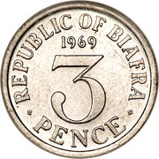 3 pence – revers