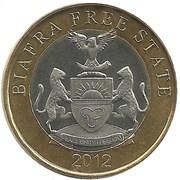 25 Biafra Shillings – avers