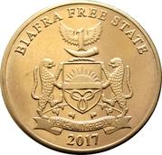 Biafra 10 shillings - elephant – avers