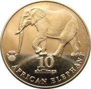 Biafra 10 shillings - elephant – revers