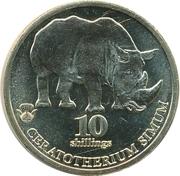 10 Shillings (White rhinoceros) – revers