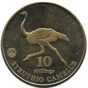 10 shillings (Autruche) – revers
