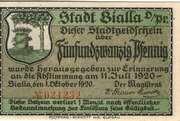 25 Pfennig (Stadt Bialla o/Pr) – avers