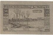 50 Heller (Biedermannsdorf) -  avers