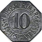 10 pfennig - Bielefeld (Stadtsparkasse) – revers