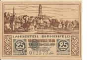 25 Pfennig (Land Birkenfeld) – avers