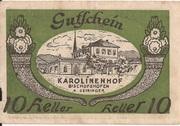10 Heller (Bischofshofen - Bahnhofrestaurant Karolinenhof) – avers