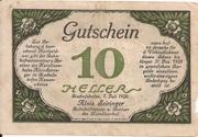 10 Heller (Bischofshofen - Bahnhofrestaurant Karolinenhof) – revers