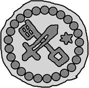 1 hohlpfennig Anonyme (épée droite; clé gauche et facé vers le bas; étoile gauche; anneau carré) – revers