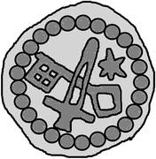 1 hohlpfennig Anonyme (épée droite; clé gauche et facé vers le bas; étoile gauche; anneau diamant) – revers
