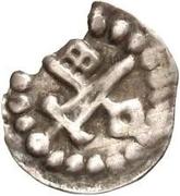 1 hohlpfennig Anonyme (épée gauche; clé droite et facé vers le haut) – avers