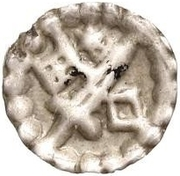 1 hohlpfennig Anonyme (épée gauche; clé droite et facé vers le bas; étoile au-dessus) – avers