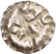 1 hohlpfennig Anonyme (épée gauche; clé droite et facé vers le bas; étoile au-dessus) – revers