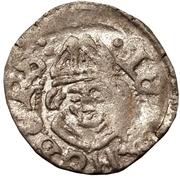 1 pfennig Johannes IV Duesborg (épée droite; clé gauche) – avers