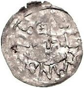 1 pfennig Johannes IV Duesborg (épée gauche; clé droite) – avers