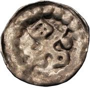 1 hohlpfennig Anonyme (épée gauche; clé droite et facé vers le haut; point droite) – avers