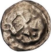 1 hohlpfennig Anonyme (épée gauche; clé droite et facé vers le haut; point droite) – revers