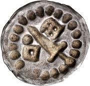 1 hohlpfennig Anonyme (épée gauche; clé droite et facé vers le centré; point droite) – revers