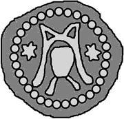 1 hohlpfennig Hermann I – avers